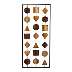 Metallic Gems Metal Panel Wall Plaque