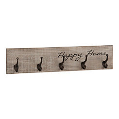 Happy Home Hooks Wall Plaque