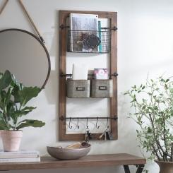 Natural Farmhouse Multi-Use Wall Organizer