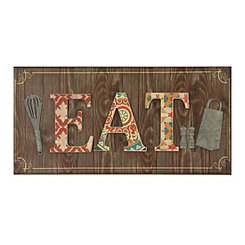 Patchwork Eat Kitchen Wall Plaque