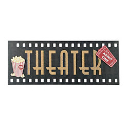 Film Reel Theater Panel Plaque
