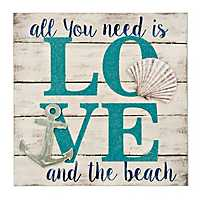 Love and the Beach Wall Plaque