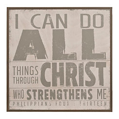 I Can Do All Things Wooden Wall Plaque