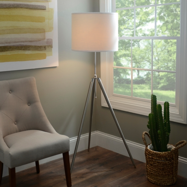 Tripod Survey Floor Lamp