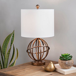 Vintage Gold Sphere Table Lamp