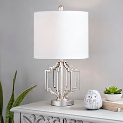 Silver Geometric Cage Table Lamp