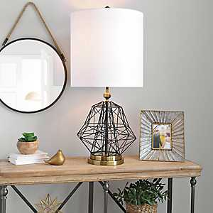Industrial Abstract Wireframe Table Lamp
