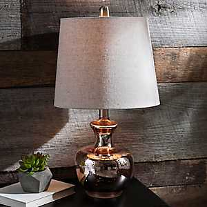 Rose Gold Mercury Glass Table Lamp