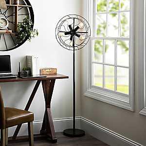 Edison Bulb Fan Floor Lamp
