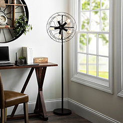 Edison Bulb Fan Floor Lamp