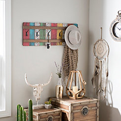 Boho Picket Fence Wall Hooks