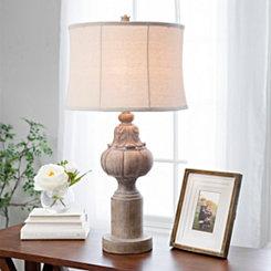 Distressed Natural Finial Table Lamp