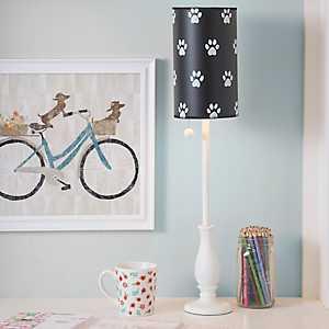 Paw Prints Candlestick Buffet Lamp