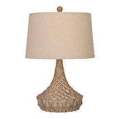 Geometric Driftwood Table Lamp