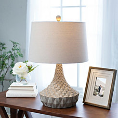 Geometric Driftwood Table Lamp