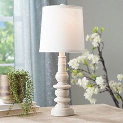 Earthen Cream Spool Table Lamp