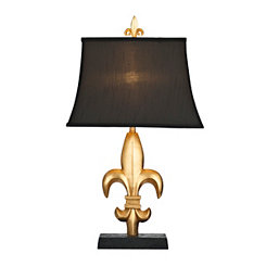 Gold Fleur-de-Lis Table Lamp