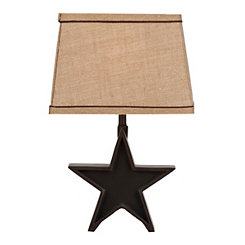 Black Rustic Star Table Lamp