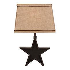 Black Rustic Star Table Lamp