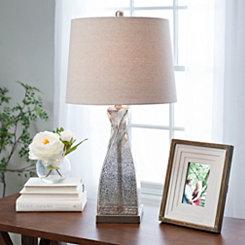Twisting Bellary Mercury Glass Table Lamp