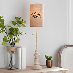 Burlap Faith Buffet Lamp