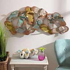 Flip Flop Pile Metal Wall Plaque