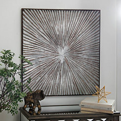 Galvanized Starburst Metal Wall Plaque