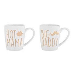 Hot Mama and Big Daddy Mug Set