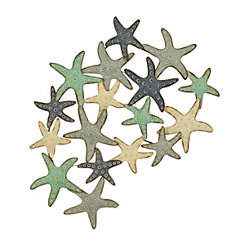 Distressed Starfish Metal Wall Plaque