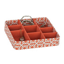 Red Trellis Jewelry Tray