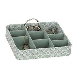 Turquoise Trellis Jewelry Tray