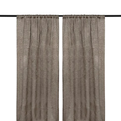 Embossed Taupe Curtain Panel Set, 84 in.