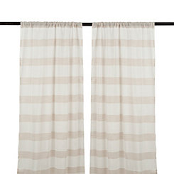 Snowflake Linen Cabana Curtain Panel Set, 84 in.