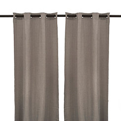 London Black Pearl Curtain Panel Set, 84 in.