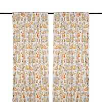 Sarabeth Gray and Orange Curtain Panel Set, 84 in.