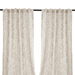 Gray Simone Curtain Panel Set, 96 in.