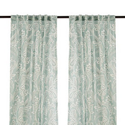 Seafoam Simone Curtain Panel Set, 96 in.