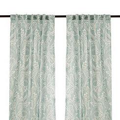 Seafoam Simone Curtain Panel Set, 96 in.