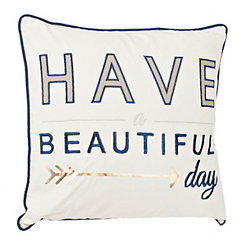 Have A Beautiful Day Embroidered Pillow