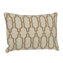 White Boucle Embroidered Pillow