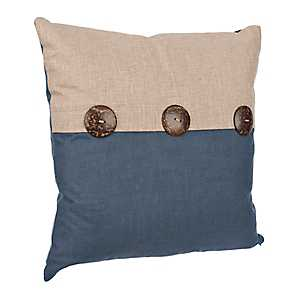 Navy Two-Tone Pillow