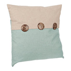 Teal Two-Tone Pillow