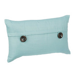 Teal Capule Button Pillow