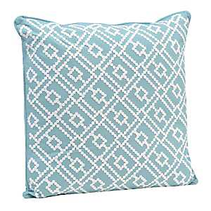 Teal Dot Embroidered Pillow