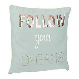 Blue Follow Your Dreams Pillow