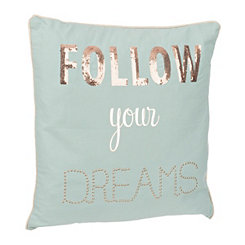 Blue Follow Your Dreams Pillow