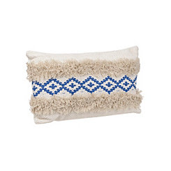 Blue Moroccan Fringe Pillow