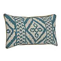 Teal Adobe Diamond Pillow