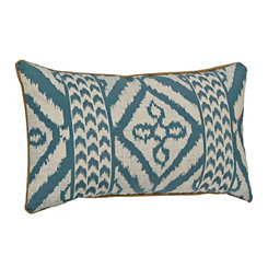 Teal Adobe Diamond Pillow
