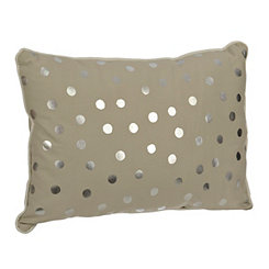Gray Polka Dot Kids Pillow